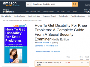 knee disability ebook